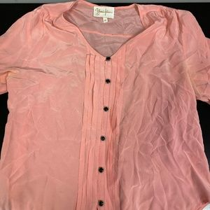Yumi Kim Pink Blouse | Size Medium